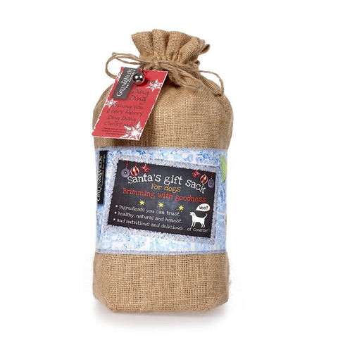 SANTA'S GIFT SACK FOR DOGS BY GREEN & WILDS