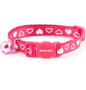 Ancol Pink Hearts Cat Collar