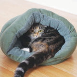 Rosewood 40 Winks Plush Sleeper Igloo Cat Bed
