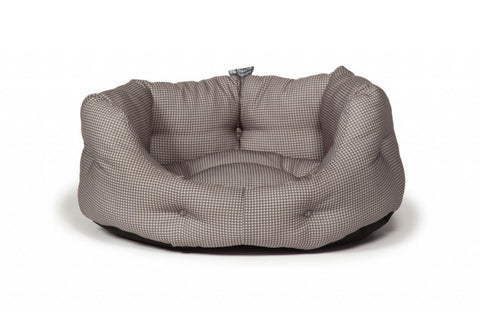 Duluxe Vintage Grey Dogstooth Slumber Bed