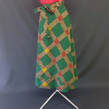 Load image into Gallery viewer, Green Multi Colored African Wrap Around Skirt