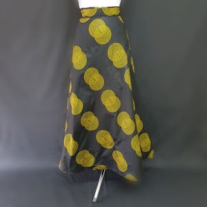 Black and Yellow African Skirt