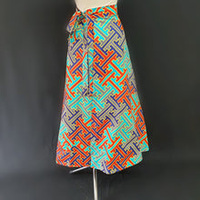 Load image into Gallery viewer, Multi-Colored Wrap Around African Skirt