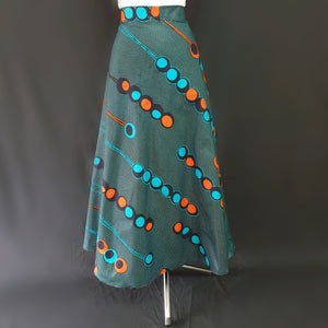 Green Wrap Around African Skirt