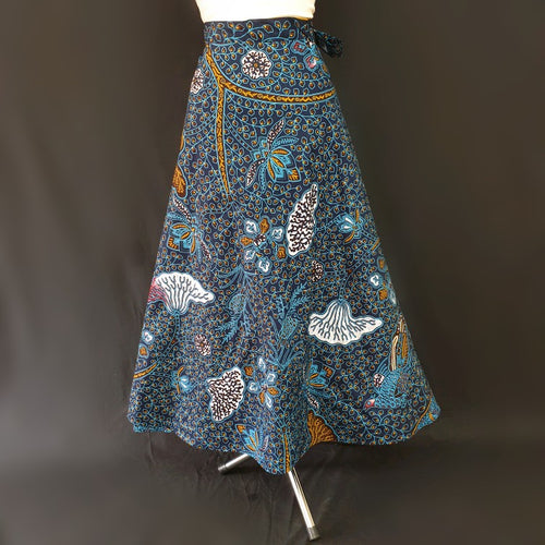 Floral Wrap Around African Skirt