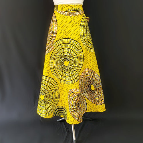 Yellow Wrap Around African Skirt