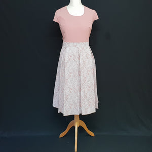 Pink Dress and Jacket with Pleats