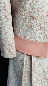 Pink Dress and Jacket with Pleats - Cerrura Fashions