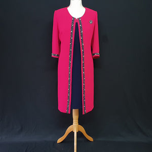 Fuscia Pink Mother of the Bride Dress and Jacket