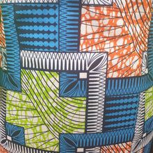 Load image into Gallery viewer, Colourful African Dress with Ruffle Sleeves