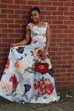 Load image into Gallery viewer, Floral A-line Maxi Dress - Cerrura Fashions