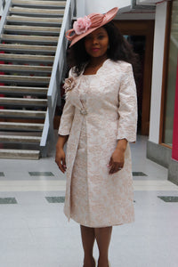 Blush Pink Mother of the Bride Dress and Jacket - Cerrura Fashions