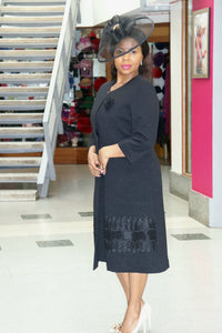 Black Dress and Jacket - Cerrura Fashions