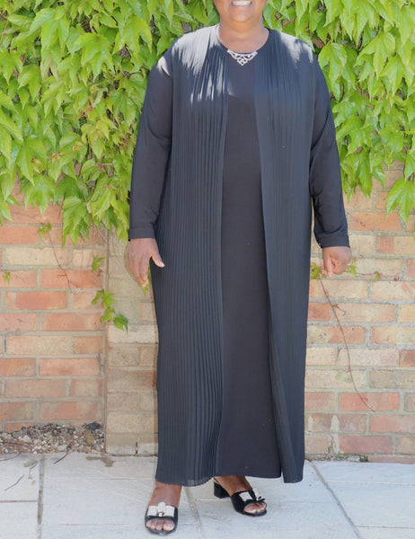 Long Black Flowing Dress - Cerrura Fashions
