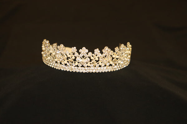 Gold Tiara Crown with Diamante Details - Cerrura Fashions
