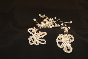PEARL Wedding Hair Vine HEADPIECE - Cerrura Fashions