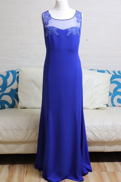 Royal Blue Elegant Evening Gown - Cerrura Fashions