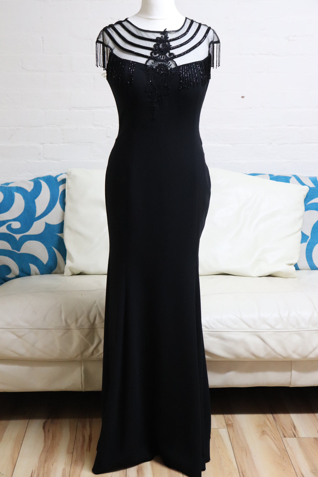 Long Black Mermaid Evening Dress