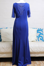 Load image into Gallery viewer, Royal Plus Size Evening Dress with Sleeves