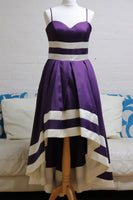 Purple High low Cocktail Dress
