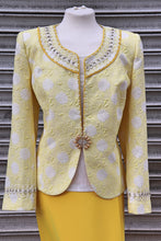 Load image into Gallery viewer, Yellow Three Piece Long Skirt Suit - Cerrura Fashions