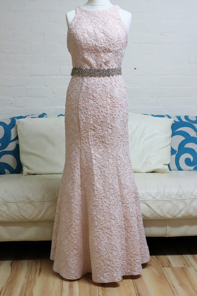 Pink Mermaid Evening Dress - Cerrura Fashions
