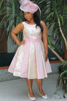 Short Pink Dress with Pleats