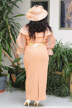 Load image into Gallery viewer, Peach Long Mother of the Bride Dress