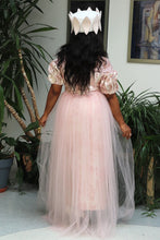 Load image into Gallery viewer, Pink Mother of the Bride Evening Dress With Lace