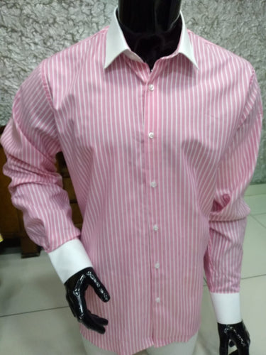 Mens Pink Smart Formal Shirt - Cerrura Fashions