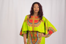 Load image into Gallery viewer, Green Dashiki African Dress - Cerrura Fashions