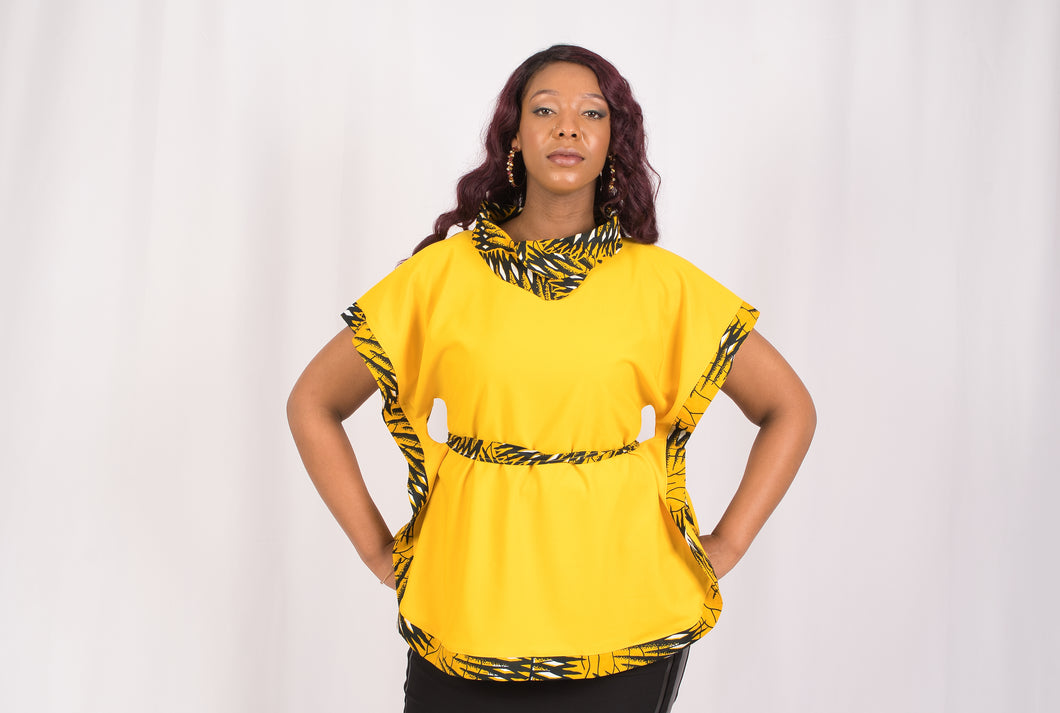 Yellow African Print Top