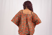 Load image into Gallery viewer, Orange African Print Top