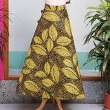 Yellow and Black African Print Wrap Skirt
