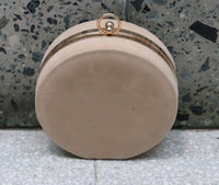 Beige Suede Clutch Bag