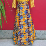 Mustard & Purple African Wrap Skirt
