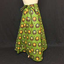 Load image into Gallery viewer, Green African Print Wrap Skirt