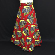 Load image into Gallery viewer, Red African Print Wrap Skirt