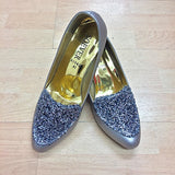 Grey Sparkle Wide Feet Shoes