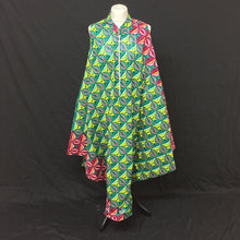Load image into Gallery viewer, Green African Print Flared Dress