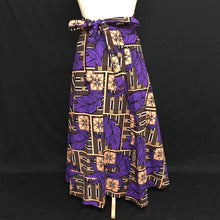 Load image into Gallery viewer, Purple African Print Wrap Skirt - Cerrura Fashions