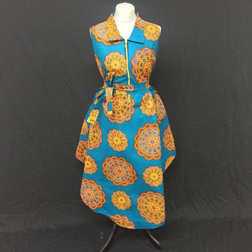 Floral African Print Flared Dress