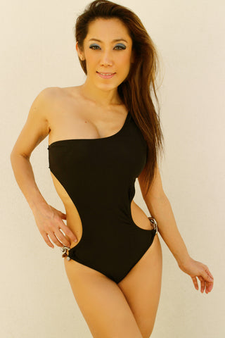One Shoulder Open Back Sexy Monokini