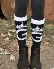 Black and White Florence Socks