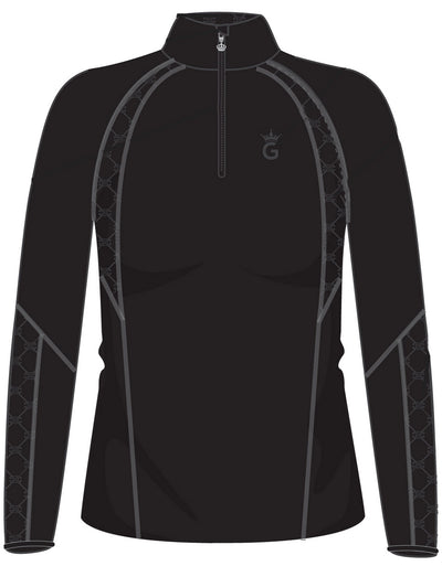 Teen and Ladies Luna Black on Black Base Layer