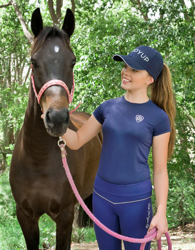 Girls Certified Horse Addict Tee