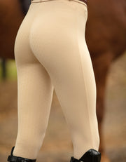 Ladies Beige Show Riding Breech/Tights with Silicone Seat