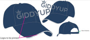 Navy Alicia High Ponytail Giddyup Cap