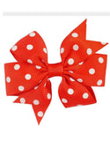 Girls Polka Dot Hair Bows