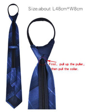 Navy and Blue Zip Equestrian Tie